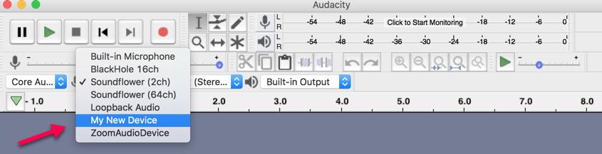 Audio virtual device for MAC